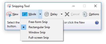 4 dạng chụp ảnh màn hình của ứng dụng