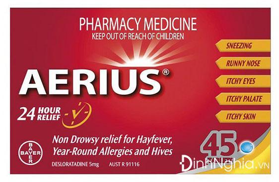aerius là thuốc gì và cách dùng aerius