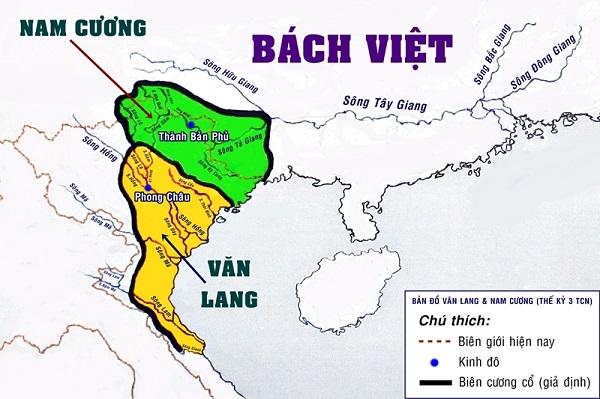 bản đồ nước văn lang