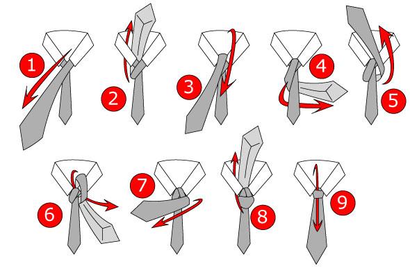 Các bước thắt cà vạt kiểu full windsor tie knot cho quý ông