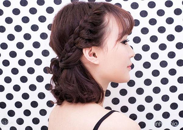 các kiểu tết tóc đẹp nhất với tóc mái tết