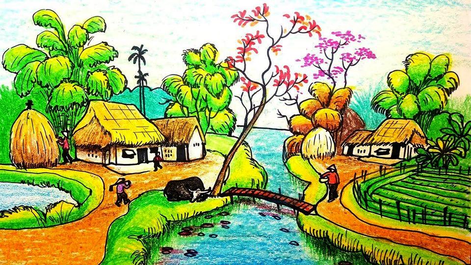 Cách vẽ tranh phong cảnh đẹp và ấn tượng nhất
