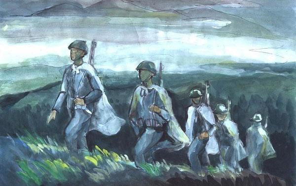cảm hứng lãng mạn và bi tráng trong tây tiến khi người lính hàng quân
