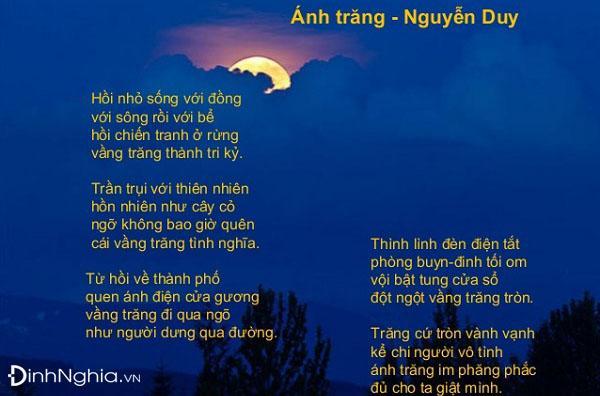 cảm nhận và phân tích bài thơ ánh trăng