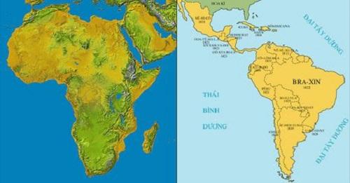 châu phi và khu vực mĩ latinh và lược đồ minh họa