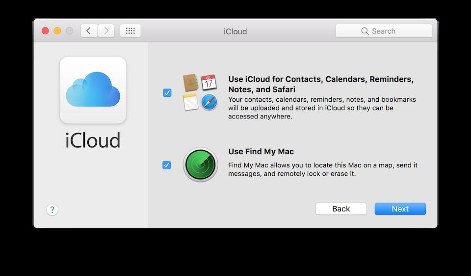 Chọn Next để tiến hành đồng bộ dữ liệu trên iCloud vào máy tính