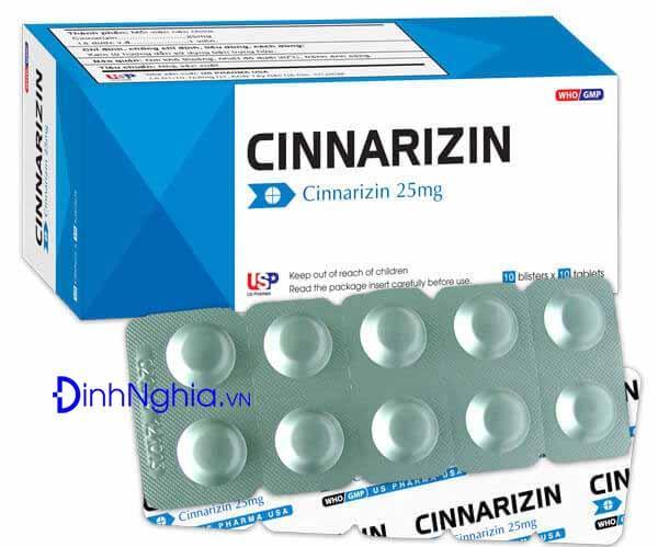 cinnarizin là thuốc gì và tác dụng của cinnarizin