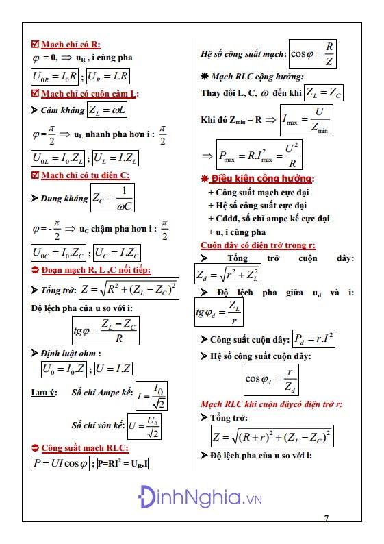 công thức vật lý 12 hình anh 7