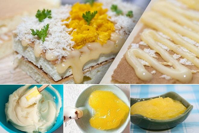 Làm phần sốt kem cho món bánh