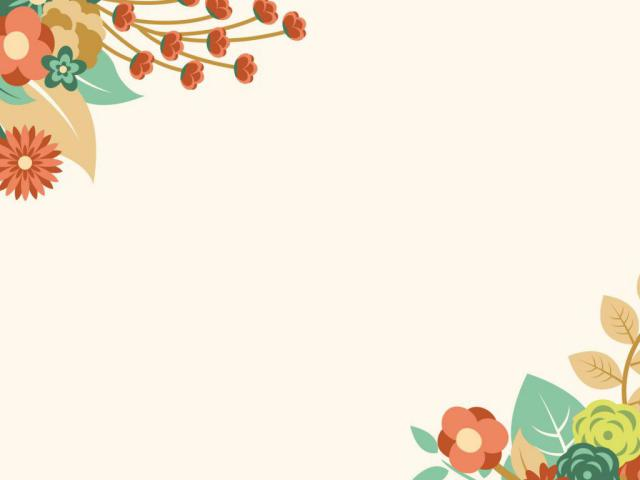 Mẫu hình nền powerpoint hoa lá