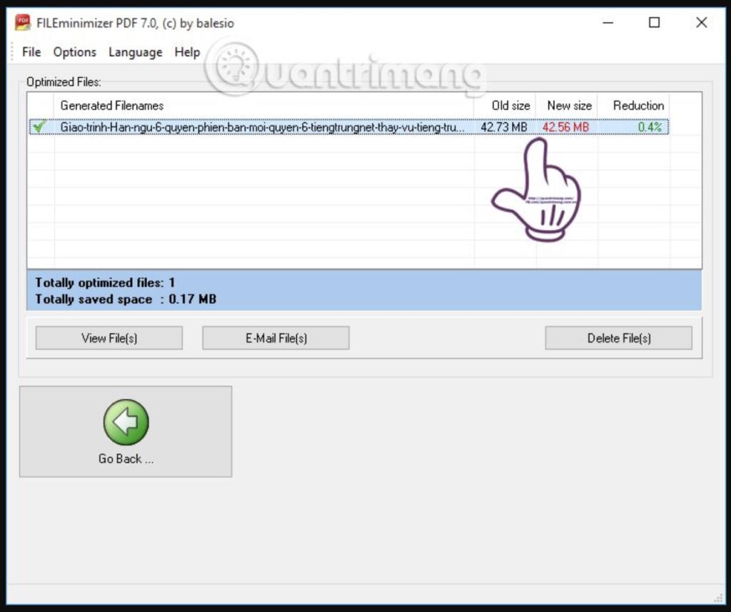 Nén file PDF bằng FILEminimizer PDF - Bước 4