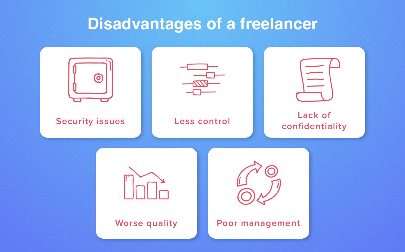 Những nhược điểm của freelancer là gì?