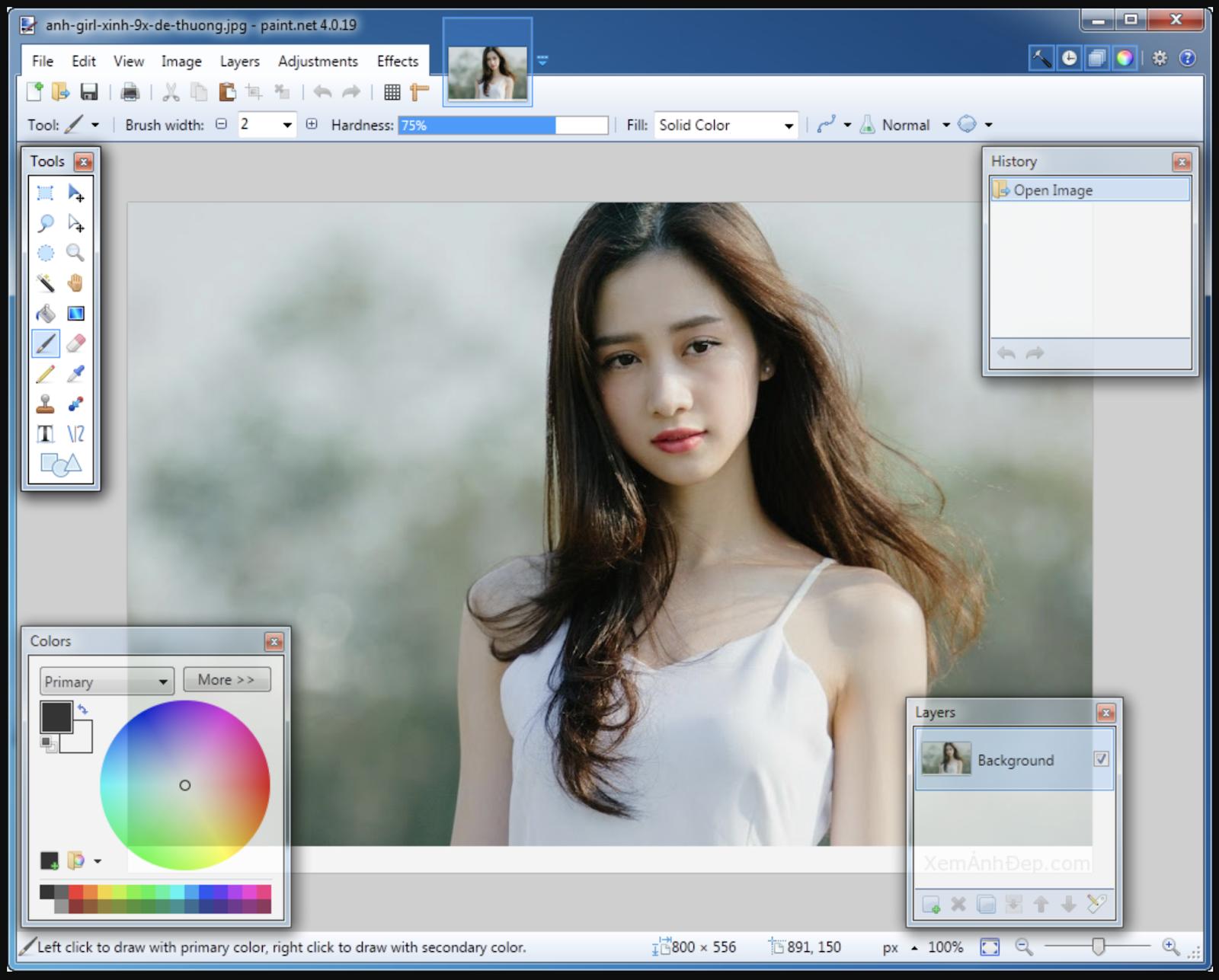 Phần mềm Paint.NET có nhiều ưu điểm nổi bật khi sử dụng