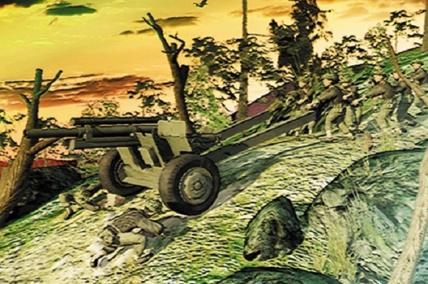 Quân ta kéo pháo chuẩn bị cho chiến thắng lịch sử Điện Biên Phủ