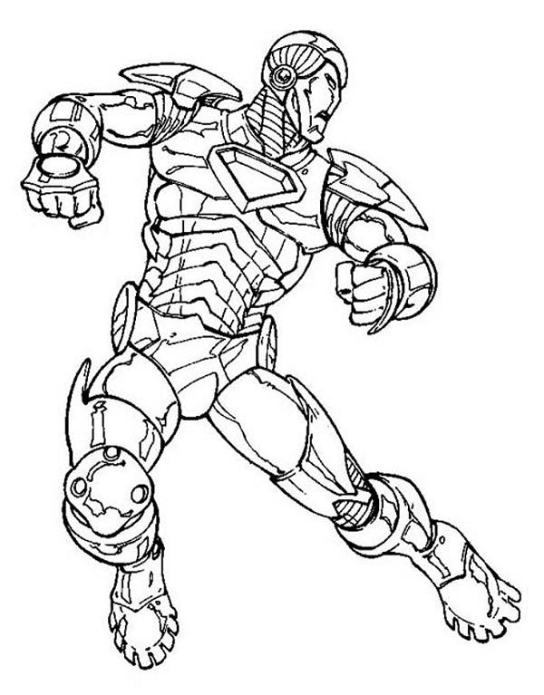 Tô màu bộ giáp sắt của người sắt