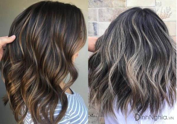 tóc bạch kim highlight tạo điểm nhấn
