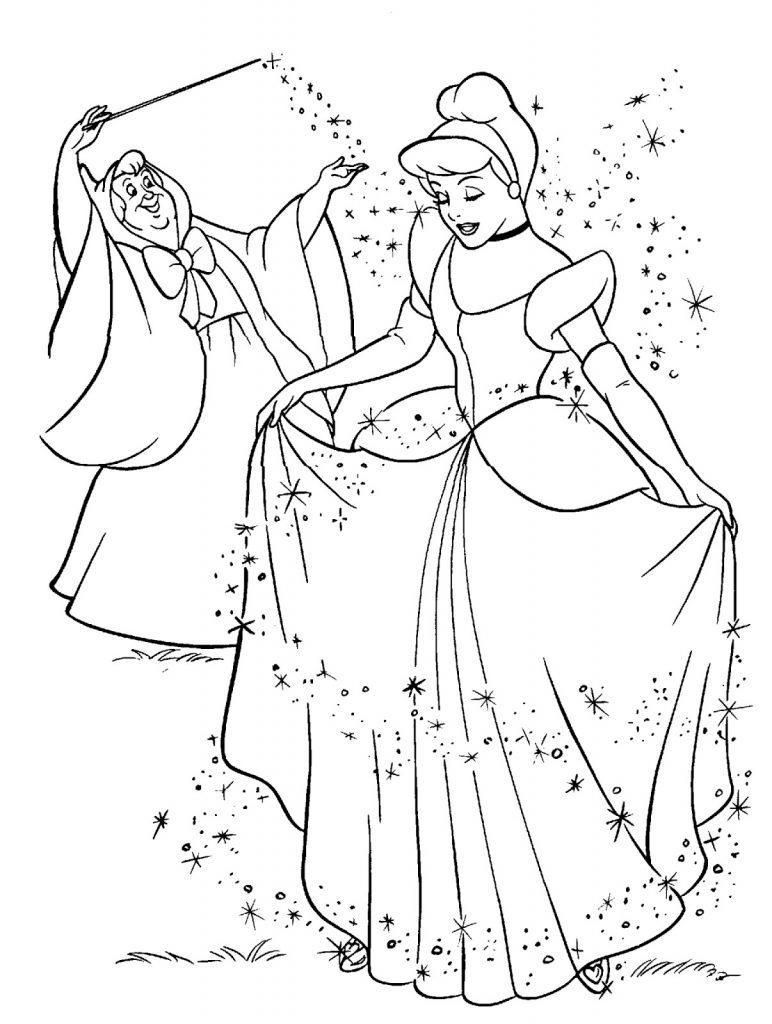 Tranh tô màu công chúa xinh đẹp