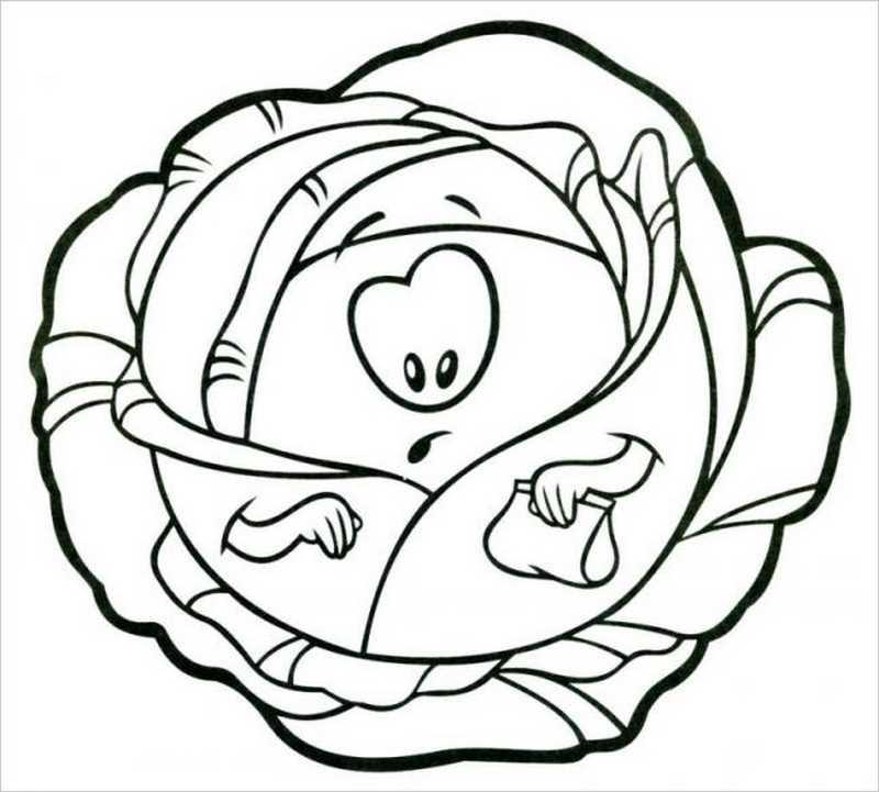 Tranh tô màu rau củ