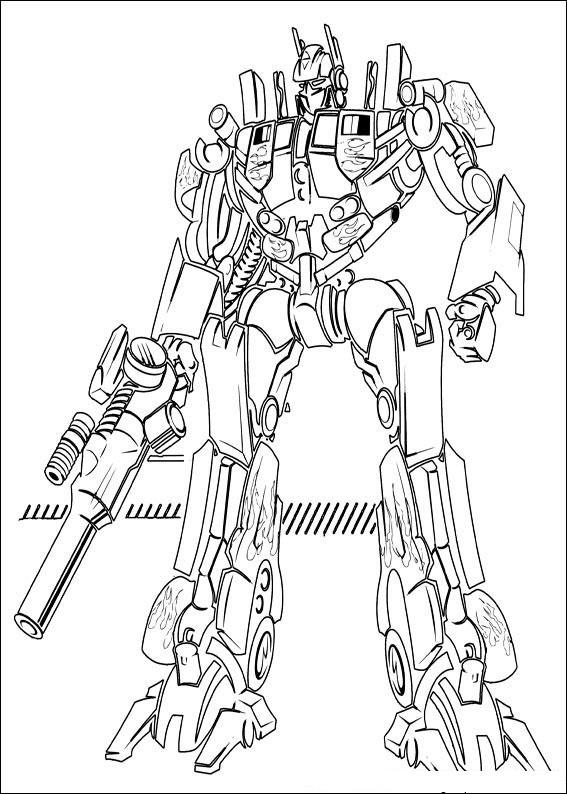 Tranh tô màu robot biến hình