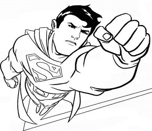 Tranh tô màu siêu nhân cho bé trai